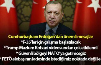 """Cumhurbaşkanı Erdoğan: """"S400'ü bırakıp..."""