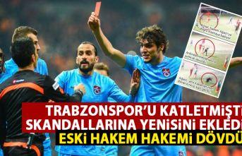 Trabzonspor'u katleden Deniz Ateş Bitnel şimdi de hakem dövdü!