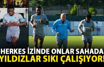 Herkes izinde onlar çalışıyor! Trabzonspor'un 3 yıldızı sıkı çalışıyor!