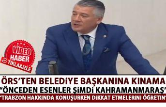 Hüseyin Örs'ten Kahramanmaraş Belediye Başkanına...