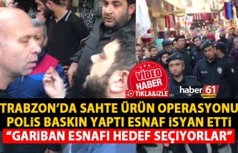 Trabzon'da sahte ürün operasyonu Polis baskın...