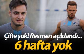 Trabzonspor'a çifte şok! Novak ve Yusuf...