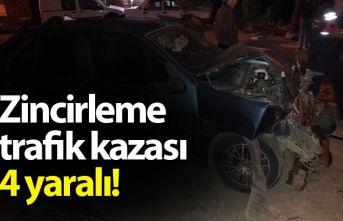 Giresun'da zincirleme trafik kazası: 4 yaralı