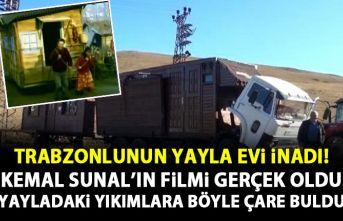 Trabzonlunun yayla evi inadı! Yayladaki yıkımlara böyle çare buldu!