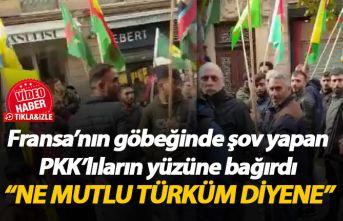 Fransız kadından PKK yandaşlarına: Ne mutlu Türküm diyene