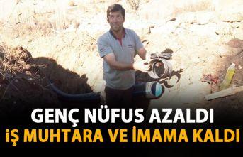 Giresun'da köyde genç nüfus kalmayınca iş muhtar ve imama kaldı!