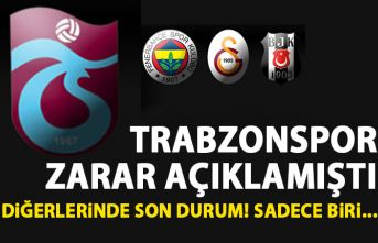 Trabzonspor zararda! Beşiktaş, Galatasaray ve fenerbahçe ise...