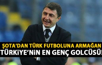 Şota beğendi! Türkiye'nin en genç golcüsü oldu!