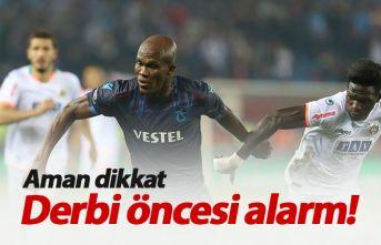 Trabzonspor'da Galatasaray öncesi alarm