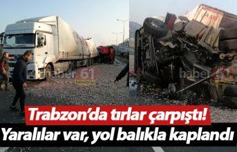 Trabzon'da tır kazası! Yaralılar var