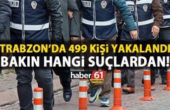 Trabzon'da 499 kişi yakalandı