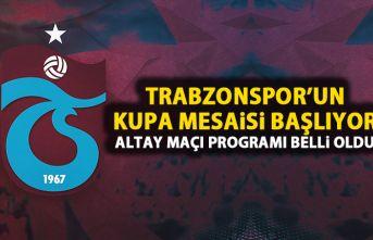 Trabzonspor'un kupa programı belli oldu! Altay...
