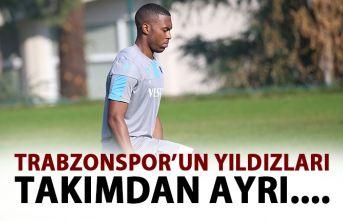 Trabzonspor'un yıldızları takımdan ayrı!