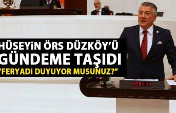 Hüseyin Örs TBMM'de Düzköy'ü gündeme...