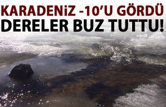 Karadeniz'de aşırı soğuktan dereler dondu