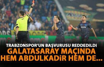 Trabzonspor'un Abdulkadir Parmak başvurusu reddedildi! Galatasaray maçında yok!