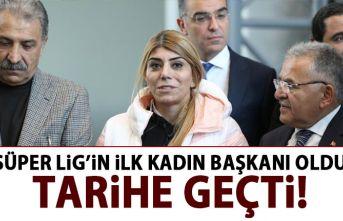 Süper Lig'in ilk kadın başkanı oldu!