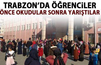 Trabzon'da kitap okuma yarışması yapıldı!