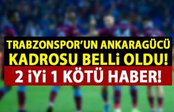 Trabzonspor'da Ankaragücü kadrosu açıklandı! Yıldız isim yine yok!