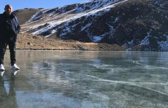 Sıcaklık eksi 17'yi gördü! göller buz tuttu