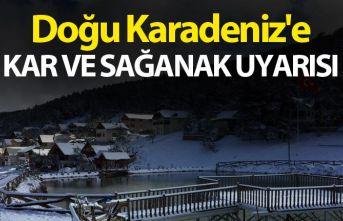 Doğu Karadeniz'e kar ve sağanak uyarısı