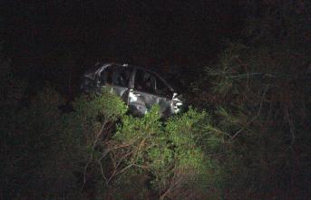 Fethiye'de otomobil uçuruma yuvarlandı