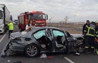 Aksaray'da cenaze yolunda kaza