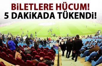 Trabzonspor taraftarı hücum etti! 5 dakikada tükendi!