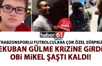 Trabzonsporlu futbolculara özel öğrencilerden özel...