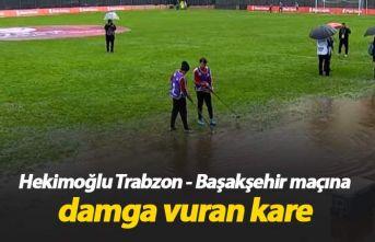 Hekimoğlu Trabzon - Başakşehir maçında yağmur...