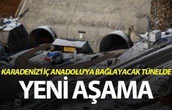 Karadeniz'i İç Anadolu'ya bağlayacak tünelde yeni aşama