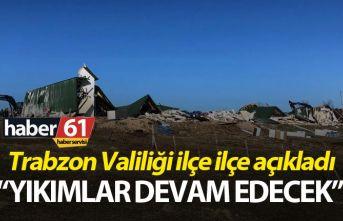 Trabzon Valiliği'nden yaylalardaki yapıların...