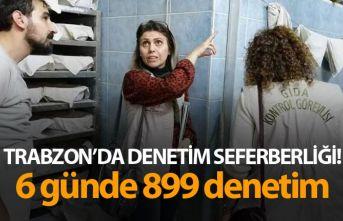 Trabzon'da denetim seferberliği! 6 günde 899 denetim