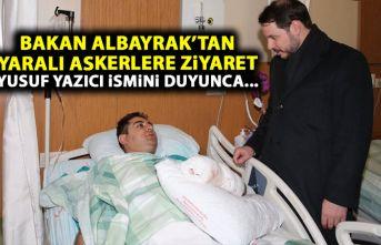 Berat Albayrak'tan yaralı askerlere ziyaret!...