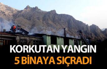Korkutan yangın! 5 binaya sıçradı