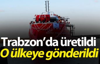 Trabzon'da üretilen balıkçı gemisi o ülkeye...