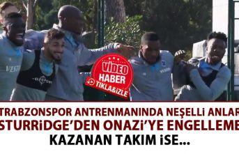 Trabzonspor idmanında neşeli anlar! Bakın yarışı kim kazandı