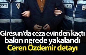 Giresun'da ceza evinden kaçtı bakın nerede yakalandı