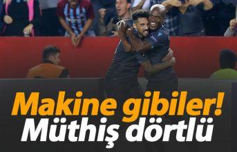 Trabzonspor'un makine gibi dörtlüsü