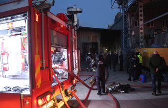 Ordu'da fındık kırma fabrikasında yangın