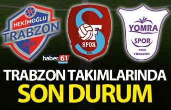 Trabzon takımlarının hafta sonu mesaisi