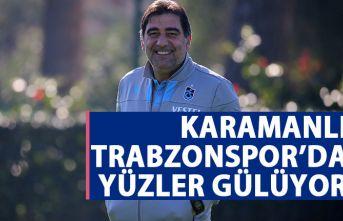 Ünal Karaman'lı Trabzonspor'da yüzler gülüyor