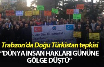Trabzon'da Doğu Türkistan tepkisi