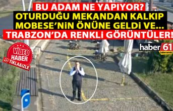 Trabzon'da renkli görüntüler! MOBESE kamerasından ilan-ı aşk!