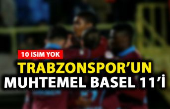 Trabzonspor'un Muhtemel Basel 11'i