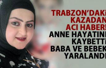 Trabzon'da hastane dönüşü kaza! Kötü haber geldi!