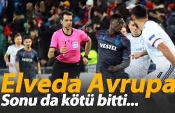 Trabzonspor'dan Avrupa'ya yenilgiyle veda