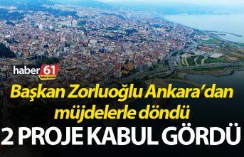 Başkan Zorluoğlu Ankara'dan müjdelerle döndü...