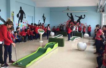 Mini Golf okullara taşındı
