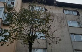 Şişli'de bir binanın çatı katında çökme!